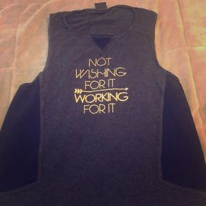 Not wishing for it working for it Workout top